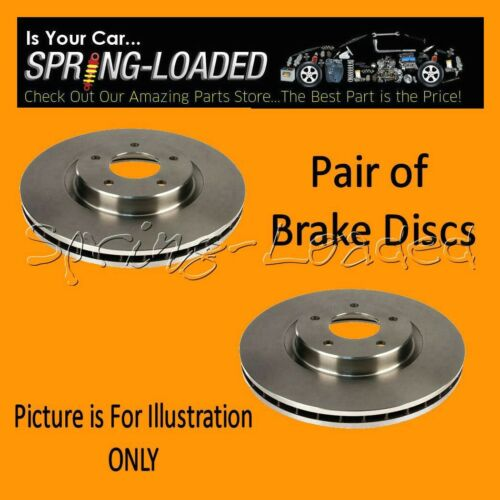 Front Brake Discs for Rover 400 420 Turbo Diesel 11//95-2000 Vented Disc