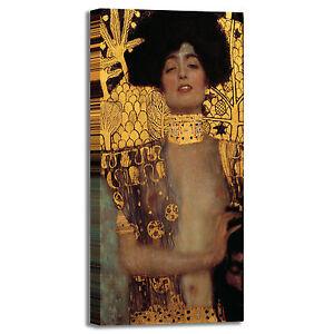 Klimt-Giuditta-e-la-testa-di-Oloferne-quadro-stampa-tela-dipinto-arredo-casa