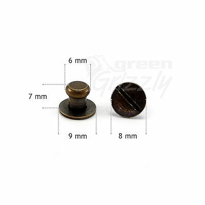 Sam brown screws studs button browne 7 or 10 mm various colours leathercraft