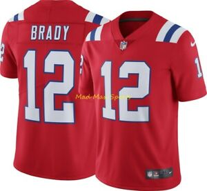 Details about TOM BRADY New England PATRIOTS Nike RED Alternate THROWBACK Limited Jersey S-2XL