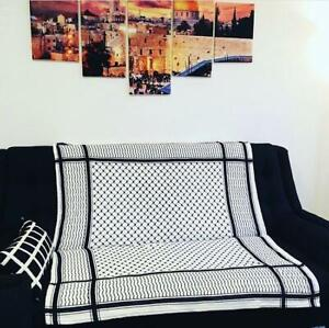 Palestinian-Kuffiyeh-Throw-Blanket