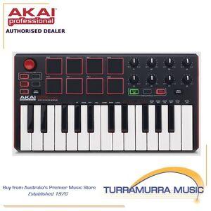 Akai-MPK-Mini-MK2-portable-USB-MIDI-controller-keyboard