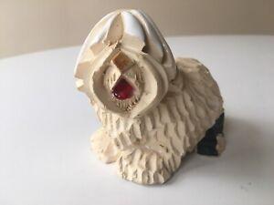 Vintage Artesania Rinconada Pottery Old English SHEEP DOG Figurine Uruguay #113