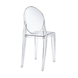 philippe starck louis replica clear transparent ghost armless chair ebay. Black Bedroom Furniture Sets. Home Design Ideas