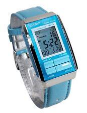 Casio LA201WBL-2A Women's Futurist Blue Leather Band Alarm Chronograph Watch