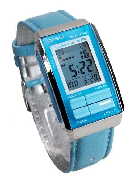 ea83b6474 Women's Casio Futurist Chronograph Digital Watch La201wbl-2a for sale  online | eBay