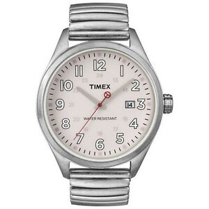New-Mens-Timex-Originals-Retro-Stainless-Steel-Expansion-Band-Watch-T2N311-110