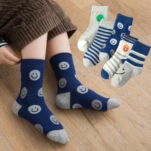 5 Pairs Toddler Boys  Socks Happy Face