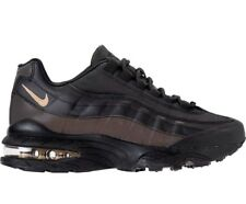 R87 Nike Air Max 90 Premium GS Sz UK 6 EU 39 Ah9345 001 Black Metallic Gold