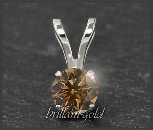 Diamant-Anhaenger-mit-0-55ct-aus-585-Gold-Brillant-in-Cognac-Chamapgner-Neu
