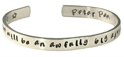 Disney Peter Pan Quote Bracelet, To Live Will Be An Awfully Big Adventure, Hand