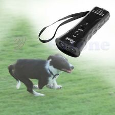 hOT Ultrasonic Dog Chaser Stop Aggressive Animal Attacks Repeller Flashlight