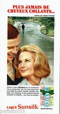 PUBLICITE ADVERTISING 1016  1967  la laque souple Sunsilk au vitorésol