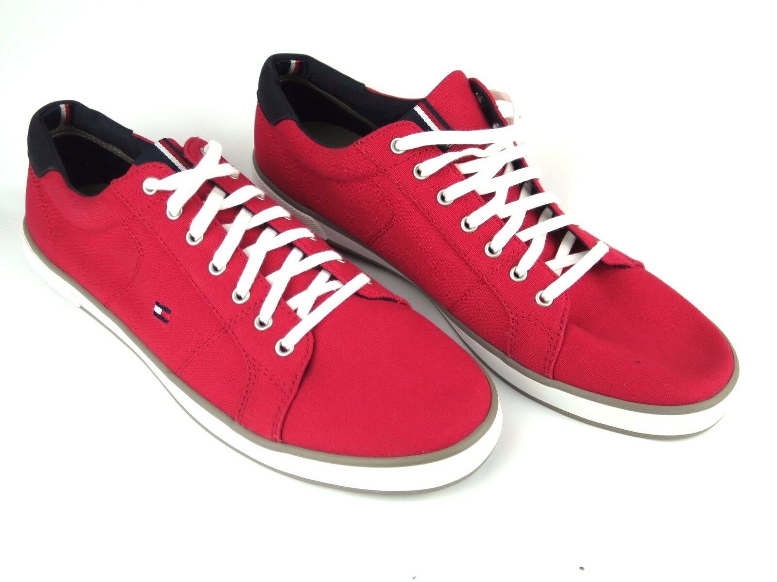 Tommy 1D Hilfiger Sneakers TH ARLOW 1D Tommy Sneaker Herren Canvas Rot Red NEW NEU 1020 18aec4