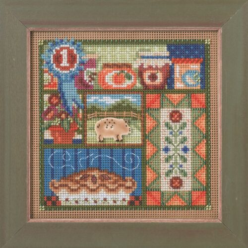 County Fair Cross Stitch Kit Mill Hill 2014 Buttons /& Beads Autumn