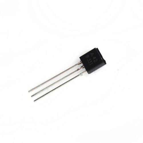 50//100PCS MPSA42 A42 0.5A//300V NPN TO-92 DIP transistors NEW