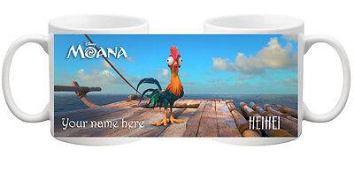 Personalised MOANA Movie Crazy Chicken HEIHEI COLOURED Mug Cup Gift