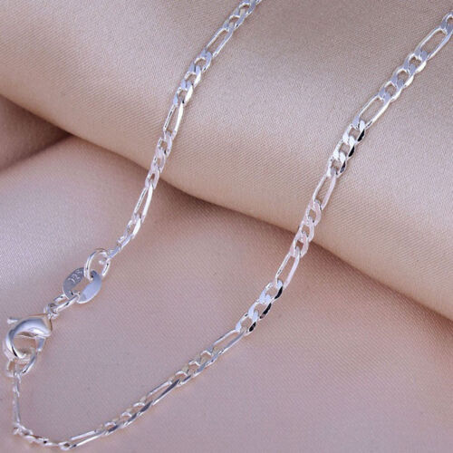 """Wholesale lots Figaro Chains 5pcs 2mm 925 Silver Plated Chain Necklaces 16/""""-24/"""""""