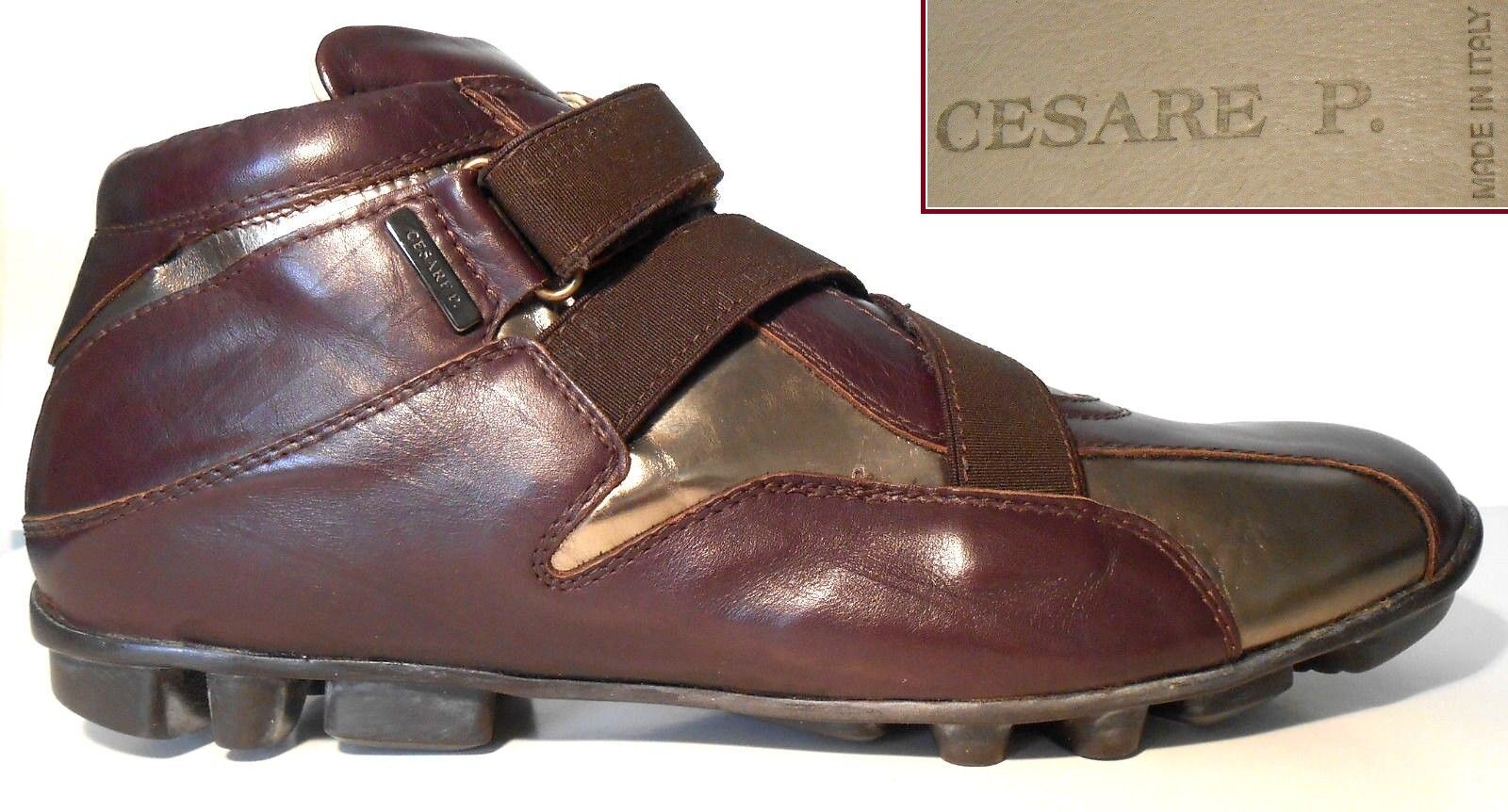 CESARE PACIOTTI NEW $595 FASHION SNEAKERS DRIVERS BURGUNGY/GOLD BURGUNGY/GOLD DRIVERS ITALY EUR43 US10 aa40c2