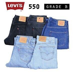 Vintage-Levis-550-relajado-ajuste-de-Jean-Denim-Grado-B-W30-W32-W34-W36-W38-550s-Levi