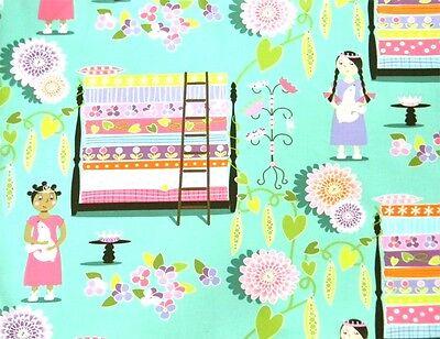 Elizabeth/'s Studio Princesses on a Pea  430 ROYAL Moon Cotton Fabric  BTY