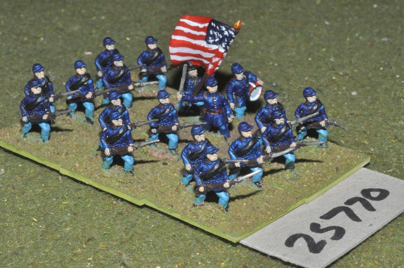 15mm ACW   union - regt. 18 figures - inf (25770)