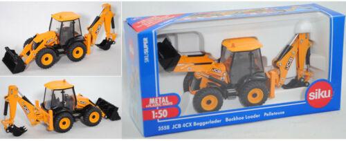 Siku Super 3558 jcb ® 4cx elite retroexcavadoras con pala de carga /& profundamente cuchara ca 1:50