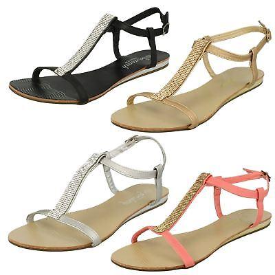 Ladies Savannah Collection White//Rose Gold Diamante Sandals UK Sizes 3-8 F10595