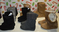 Girl's Old Navy Slip On Boots Sparkle, Warm, Cozy, Shimmer, Gray, Tan, Black