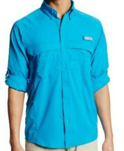 NWT Columbia SZ Small PFG AirGill Long Sleeve Vented Fishing Camp Shirt Men/'s .//
