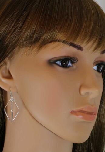 VASCAYA Damen Ohrhänger Ohrring Rhomben Ohrhaken Silber 925 Geschenk Geburtstag