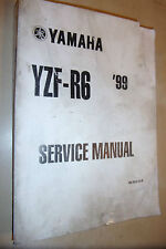 YAMAHA YZF-R6 yzf r6 600cc GENUINE PAPER FACTORY SHOP SERVICE MANUAL 1999