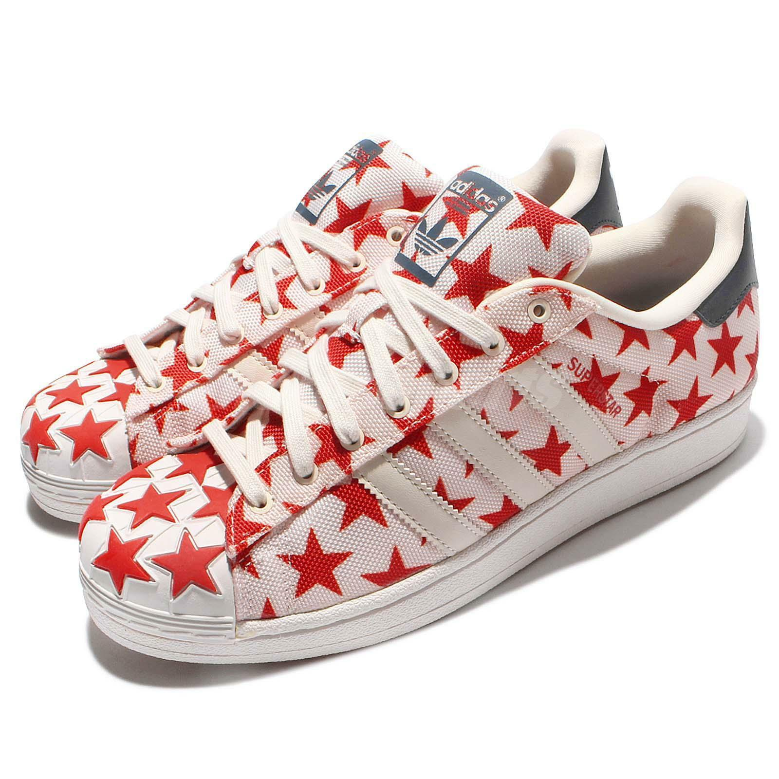 adidas Originals Superstar Shell Toe Pack Blanc Rouge Star Casual