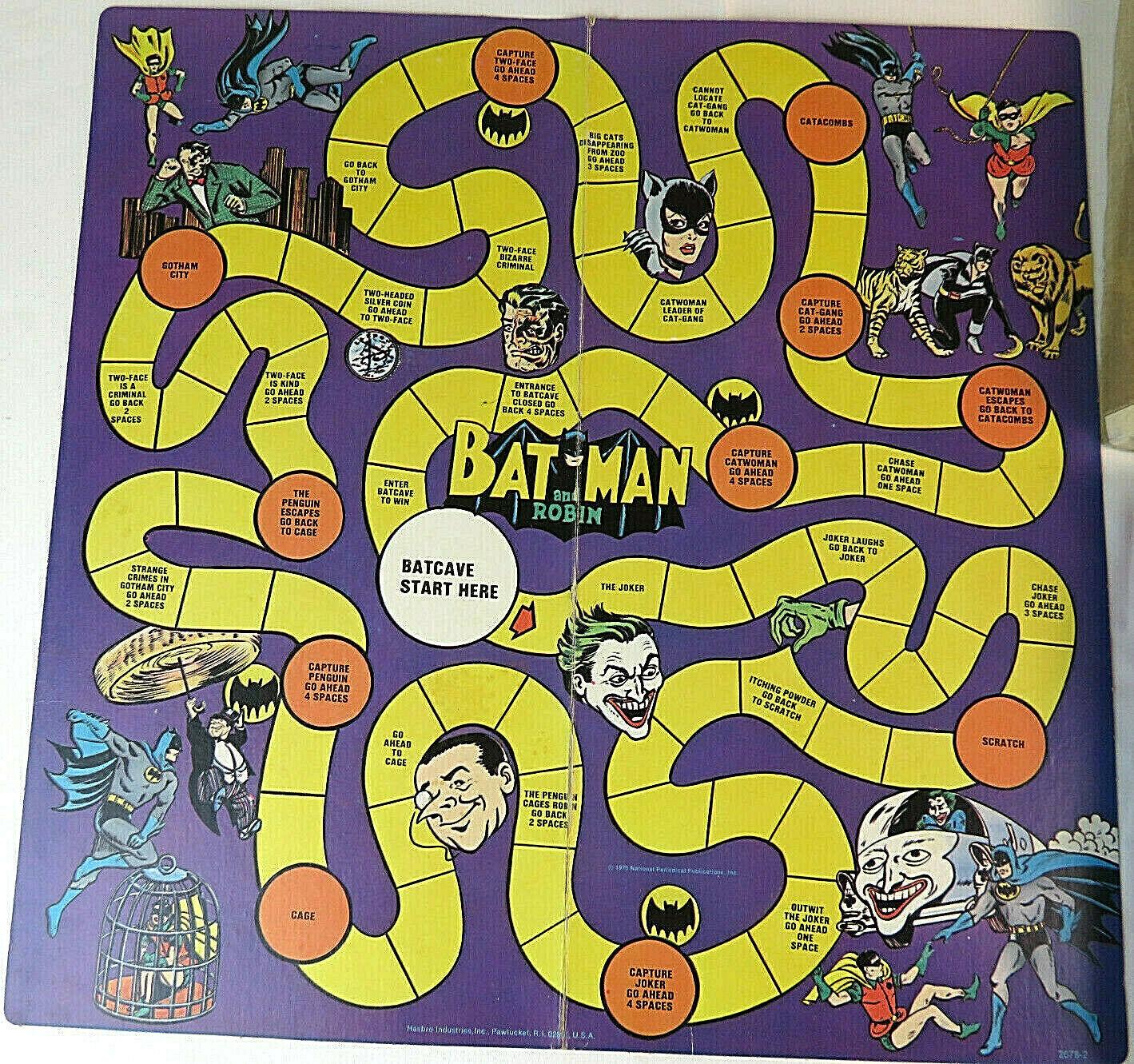 1973 Batman Board Game - Sällsynta Hasbro Vintage 1970 s DC Comics