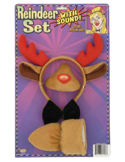 Mouse Animal  Set Sound Nose And Tail Halloween Forum Novelties