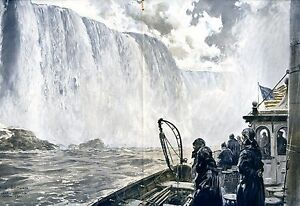 Niagarafaelle-XXL-Kunstdruck-1924-von-Claus-Bergen-Lenggries-USA-Kanada
