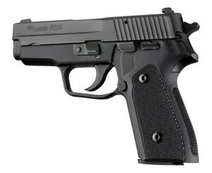 Hogue-Extreme-Series-Checkered-G10-Grips-SIG-Sauer-P225-A1-Solid-Black-27159