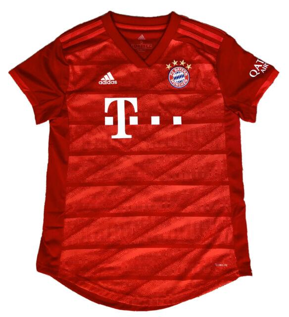 adidas Bayern Munich 2019/20 Womens Home Jersey Red Size S Dx9252 ...