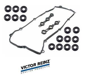 For VICTOR REINZ OEM Valve Cover Gasket Set w// 15 Bolt Seals E46 E39 E38 E36