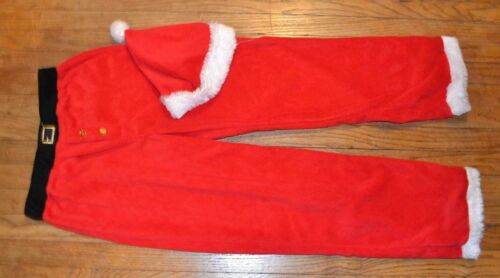 Mad Engine Santa Suit Fleece Pajama Bottoms optional Santa Hat Soft Plush Fleece