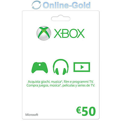 Xbox Live Tarjeta Regalo 50 Euro - Microsoft Xbox 360 One ?50 Eur código [ES/EU]