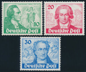 BERLIN 1949, MiNr. 61-63, tadellos postfrisch, gepr. Schlegel, Mi. 320,-