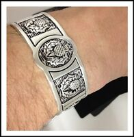 Pewter Scottish Thistle Cuff Bracelet