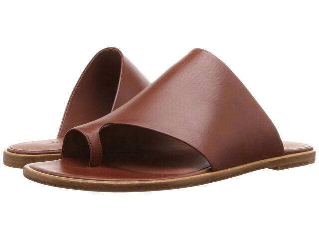 Vince Edris Cognac Leather Toe Loop