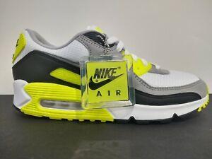 Nike Air Max 90 Volt White Gray Black Cd0881 103 Men S Size 9 5 No Lid Ebay