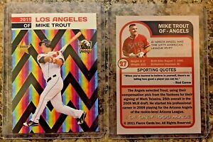Mike Trout LA Angels 2011 MLB Draft Limited Edition Rookie Card. 1,000 Made!