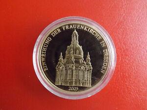 * Femmes église Dresde * Médaille Pp Plaqué Or * Environ 40 Mm (kof5)-afficher Le Titre D'origine