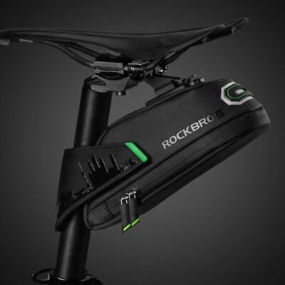 RockBros Cycling Bicycle Waterproof Bike Rear Seatpost Saddle Tail Bag Black