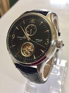 EARNSHAW-Flinders-Men-039-s-Black-Automatic-23-Jewels-Watch-ES-8023-01-5ATM-43mm