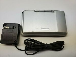 Nintendo DS Launch Edition Titanium Silver Handheld System W/ Official Charger 2